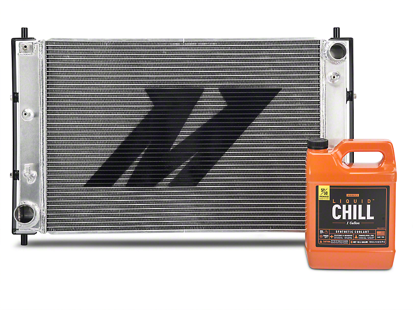 Mishimoto Aluminum Radiator w/ Liquid Chill Pre-Mix Coolant (97-04 V8 w/ Manual Transmission, Excluding 03-04 Cobra)