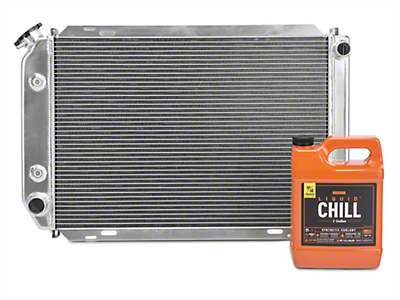 SR Performance Aluminum Radiator w/ Liquid Chill Pre-Mix Coolant (79-93 5.0L w/ Automatic Transmission)