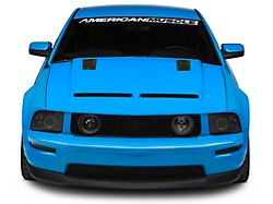 Cervini's Ram Air Hood with Louvers; Unpainted (05-09 GT, V6)