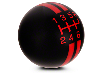 Rally Stripe 6-Speed Shift Knob - Black/Red (07-09 GT500)