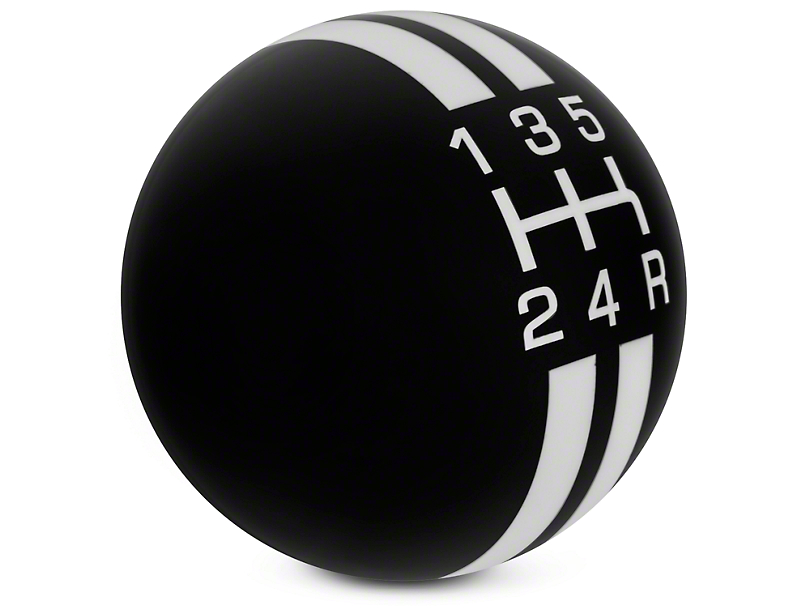 Rally Stripe 5-Speed Shift Knob - Black/White (05-10 GT, V6)