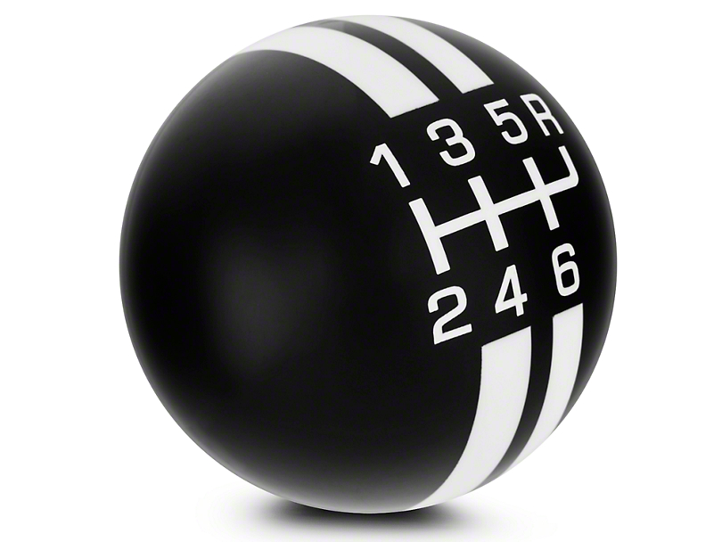 Rally Stripe 6-Speed Shift Knob - Black/White (03-04 Cobra)
