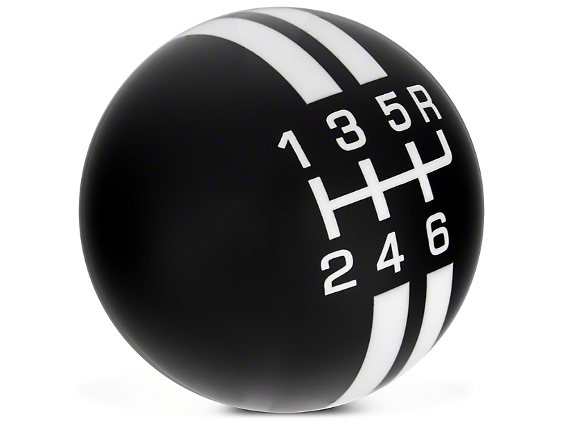 Modern Billet Rally Stripe 6-Speed Shift Knob - Black/White (10-14 GT500)