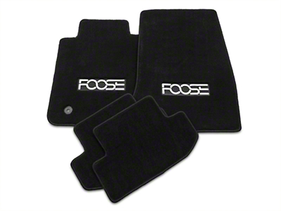 Front & Rear Floor Mats w/ FOOSE Logo - Black (15-18 All)