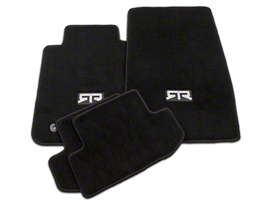 RTR Front & Rear Floor Mats w/ RTR Logo - Black (15-19 All)