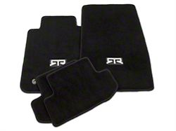 RTR Front & Rear Floor Mats w/ RTR Logo - Black (15-20 All)