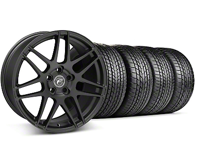 Staggered Forgestar F14 Matte Black Wheel & Sumitomo Tire Kit - 17x9/10.5 (99-04 All)