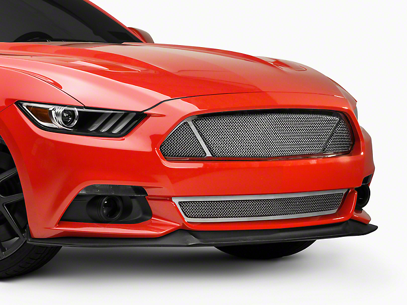 T-REX Upper Class Series 3-Window Mesh Grille - Polished (15-17 GT, EcoBoost, V6)