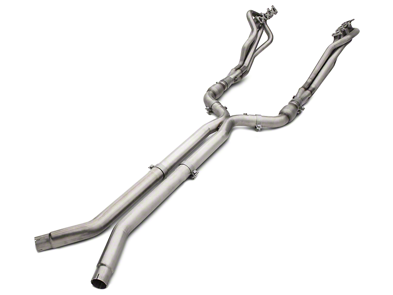 American Racing Headers 1-7/8 x 3 in. Long Tube Catted Headers w/ X-Pipe - Long System (15-17 GT)
