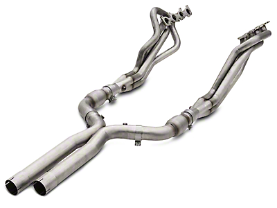 American Racing Headers 1-7/8 x 3 in. Long Tube Catted Headers w/ X-Pipe - Bottle-Neck Eliminator (15-18 GT)