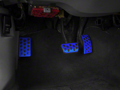 Bullitt Style Pedal Covers - Blue (94-04 w/ Automatic Transmission)