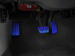 Modern Billet Bullitt Style Pedal Covers - Blue (94-04 w/ Automatic Transmission)