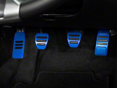 GT500 Style Pedal Covers - Blue (05-14 w/ Manual Transmission)