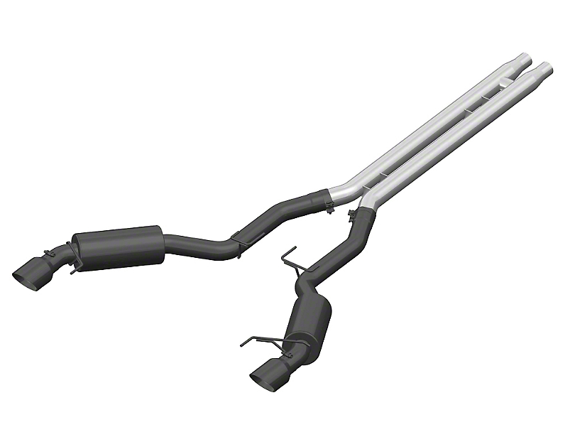 MBRP Black Series Cat-Back Exhaust w/ H-Pipe - Race Version (15-17 GT)
