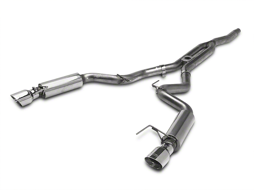 MBRP XP Series Cat-Back Exhaust with Y-Pipe; Race Version (15-20 EcoBoost Fastback w/o Active Exhaust)