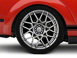 2013 GT500 Style Hyper Dark Wheel; Rear Only; 20x10 (05-09 All)