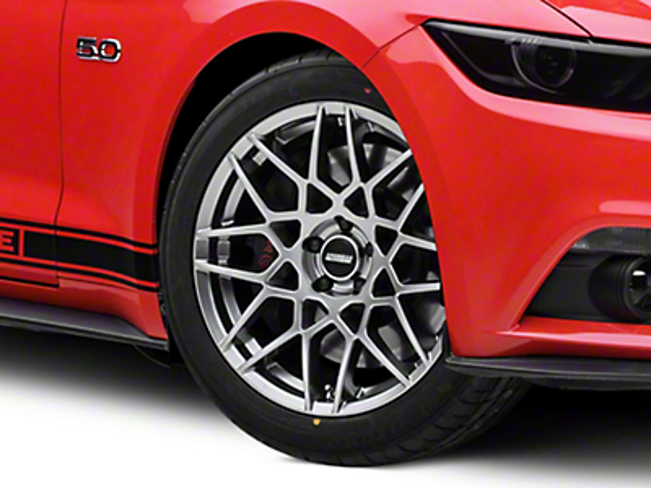 2013 GT500 Style Hyper Dark Wheel - 19x8.5 (15-18 GT, EcoBoost, V6)
