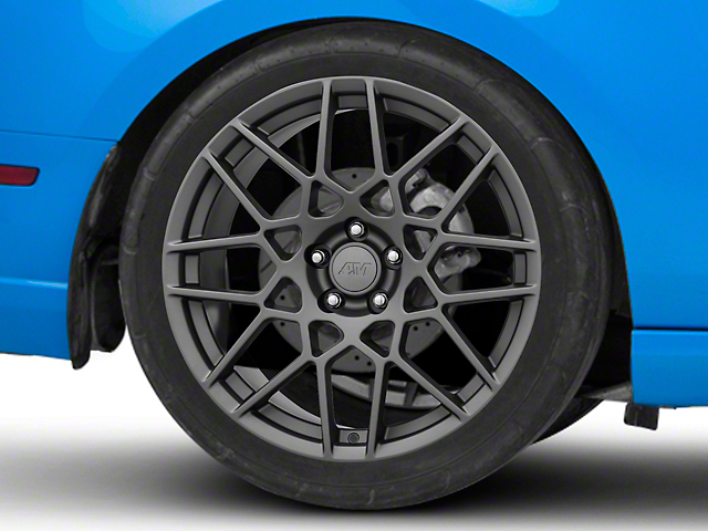 2013 GT500 Style Charcoal Wheel; Rear Only; 20x10 (10-14 All)