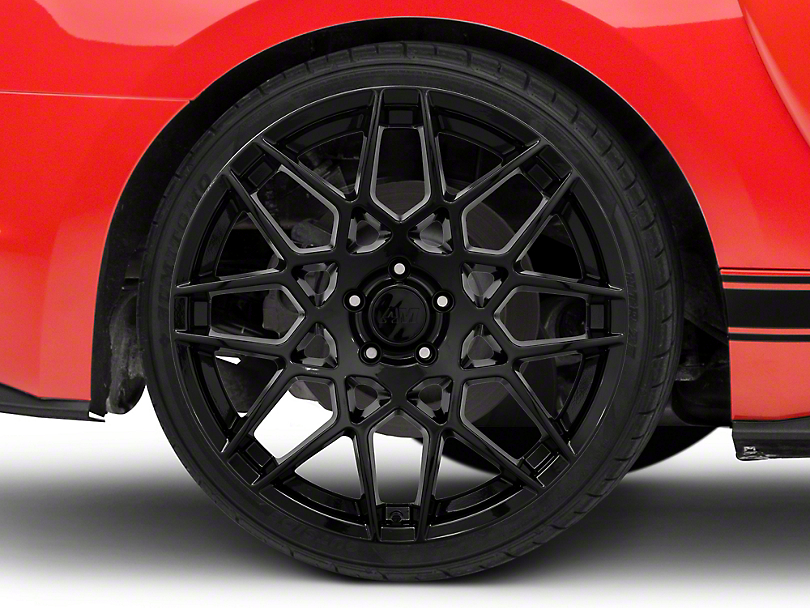 2013 GT500 Style Gloss Black Wheel - 20x10 - Rear Only (15-19 GT, EcoBoost, V6)