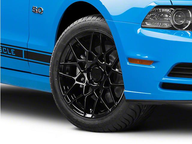 2013 GT500 Style Gloss Black Wheel; 18x9 (10-14 Standard GT, V6)