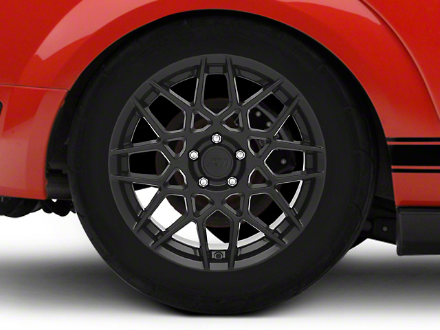 2013 GT500 Style Gloss Black Wheel; Rear Only; 18x10 (05-09 GT, V6)