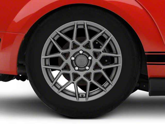2013 GT500 Style Charcoal Wheel; Rear Only; 18x10 (05-09 GT, V6)