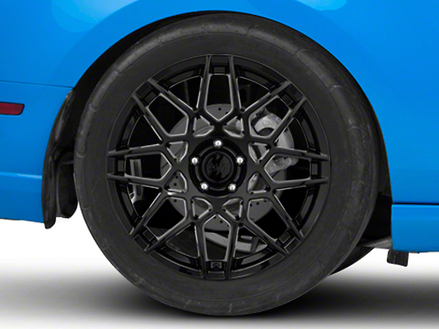 2013 GT500 Style Gloss Black Wheel; Rear Only; 19x10 (10-14 All)