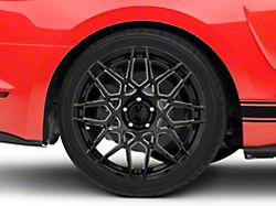 2013 GT500 Style Gloss Black Wheel; Rear Only; 19x10 (15-20 GT, EcoBoost, V6)