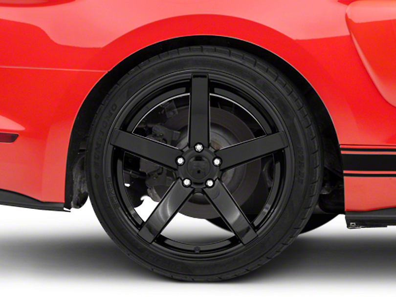 Rovos Durban Gloss Black Wheel - 20x10 - Rear Only (15-19 GT, EcoBoost, V6)