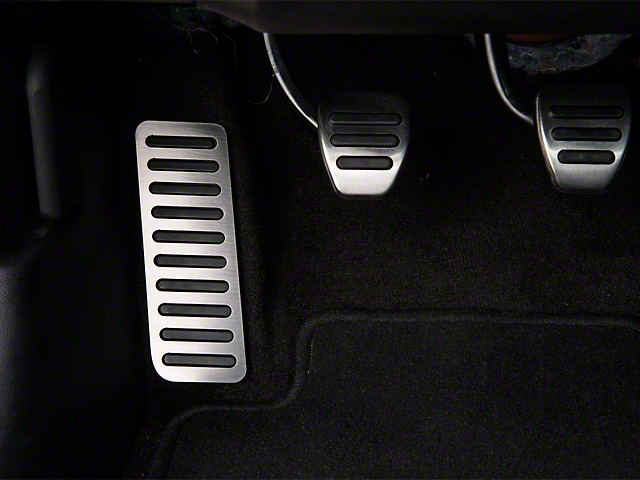 Modern Billet Dead Pedal Cover - Brushed (15-19 All)