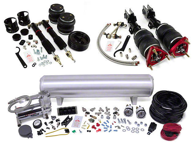 Air Lift Performance 4-Way Manual Complete Air Suspension Kit; 1/4-Inch Lines (15-20 All)