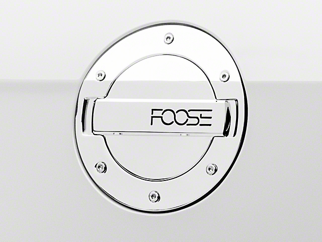 MMD by FOOSE Chrome Billet Aluminum Fuel Door w/ FOOSE Logo (10-14 All)