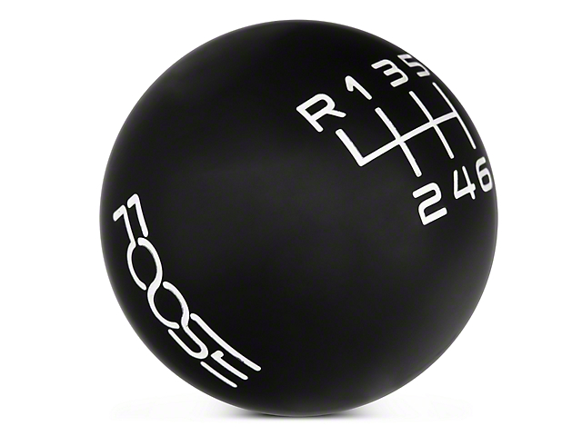 MMD by FOOSE Retro Style 6-Speed Shift Knob w/ FOOSE logo - Black (15-17 GT, EcoBoost, V6)