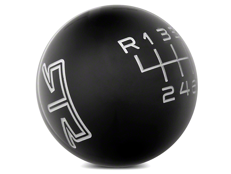 RTR Black Shift Knob - Gray Engraving (15-18 GT, EcoBoost, V6)