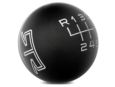 RTR Black Shift Knob - Gray Engraving (15-17 GT, EcoBoost, V6)