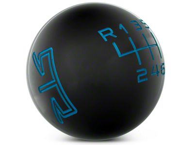 RTR Black Shift Knob - Blue Engraving (15-19 GT, EcoBoost, V6)