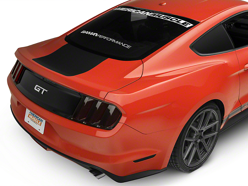 American Muscle Graphics Matte Black Rear Decklid Accent (15-18 All)