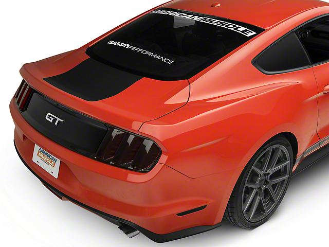 American Muscle Graphics Matte Black Rear Decklid Accent (15-19 All)