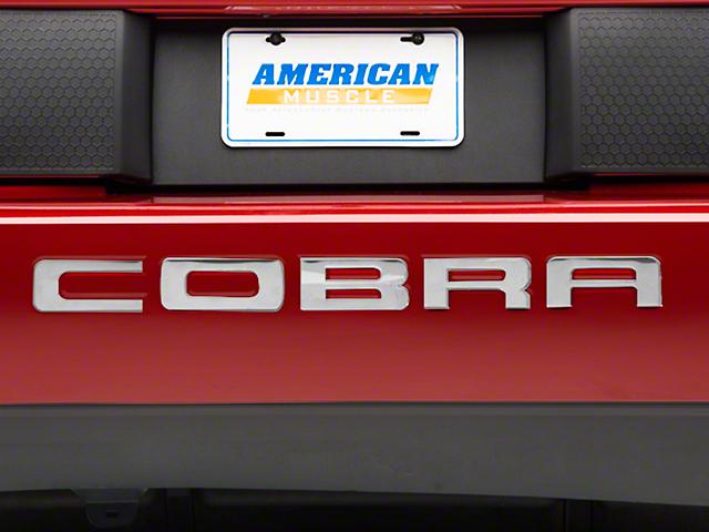 Modern Billet Stainless Steel Bumper Insert Letters (03-04 Cobra)