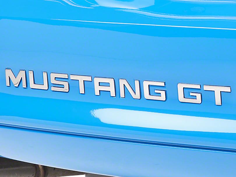 Modern Billet Stainless Steel Bumper Insert Letters (94-98 GT, V6; 94-95 Cobra)