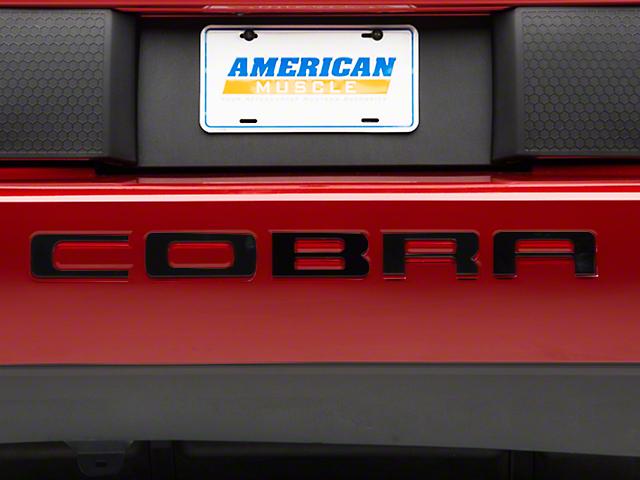 Modern Billet Black Steel Bumper Insert Letters (03-04 Cobra)