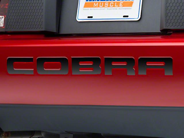 Modern Billet Black Chrome Bumper Insert Letters (96-98 Cobra; 2001 Cobra)