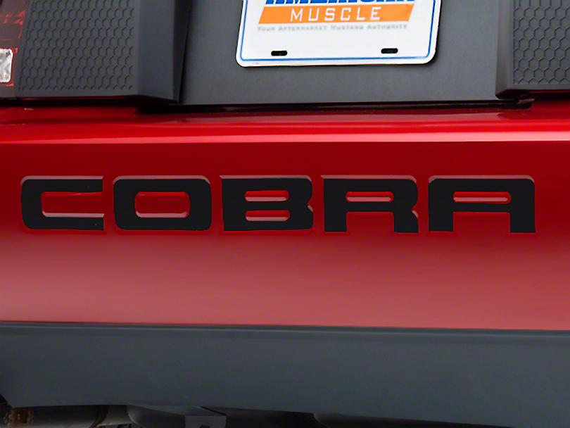Modern Billet Black Steel Bumper Insert Letters (96-98 Cobra; 2001 Cobra)