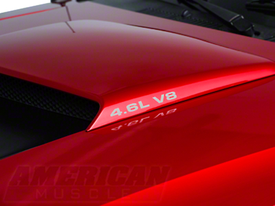 American Muscle Graphics 4.6L V8 Hood Scoop Decals - Silver (96-04 GT)