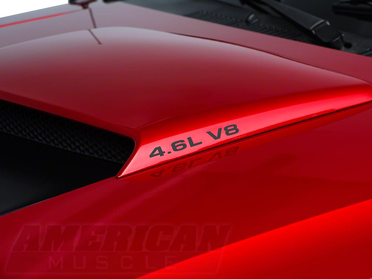 American Muscle Graphics 4.6L V8 Hood Scoop Decals - Matte Black (96-04 GT)
