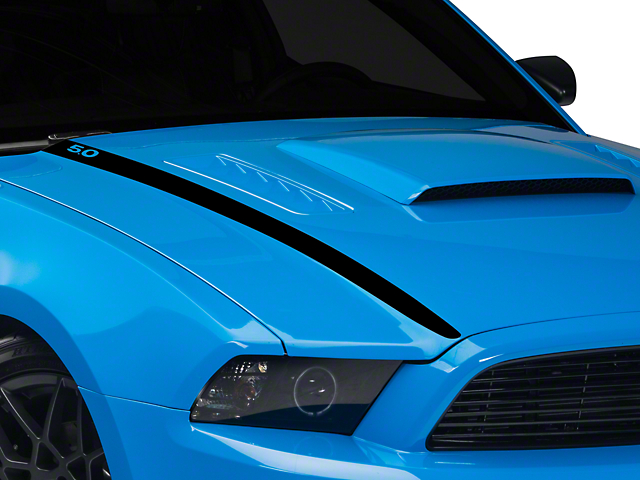 American Muscle Graphics Black Hood Accent Decal - 5.0 Lettering (13-14 GT; 2013 BOSS 302)