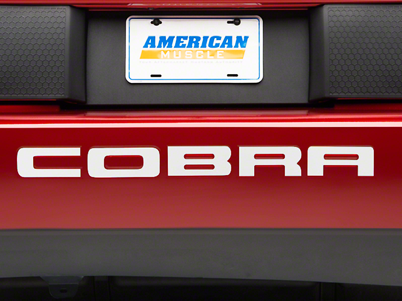 American Muscle Graphics Stainless Steel Vinyl Bumper Insert Letters (03-04 Cobra)