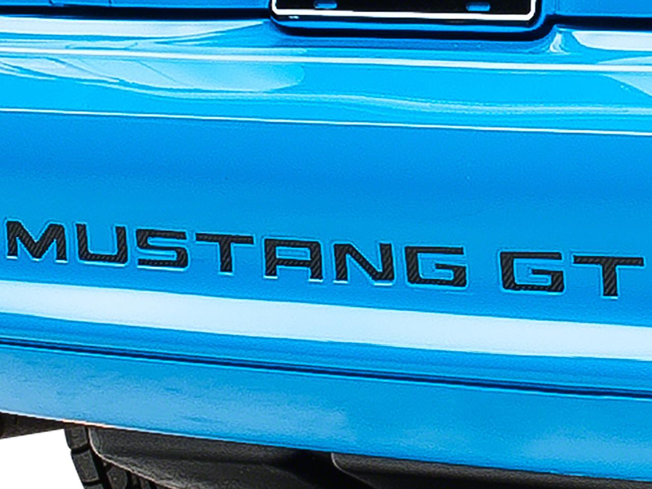 American Muscle Graphics Carbon Fiber Vinyl Bumper Insert Letters (94-98 GT, V6; 94-95 Cobra)
