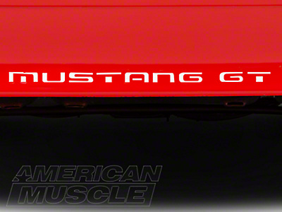 American Muscle Graphics White Vinyl Bumper Insert Letters (87-93 GT, LX)