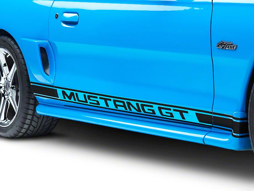 Black Rocker Stripes w/ Mustang GT Lettering (94-04 All)